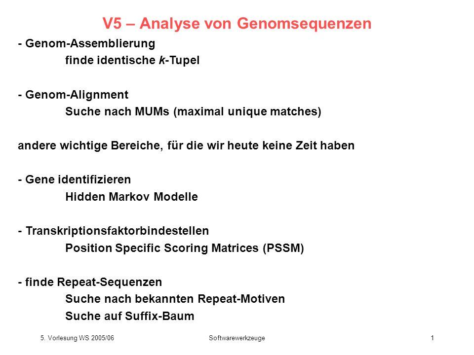 V5 – Analyse von Genomsequenzen