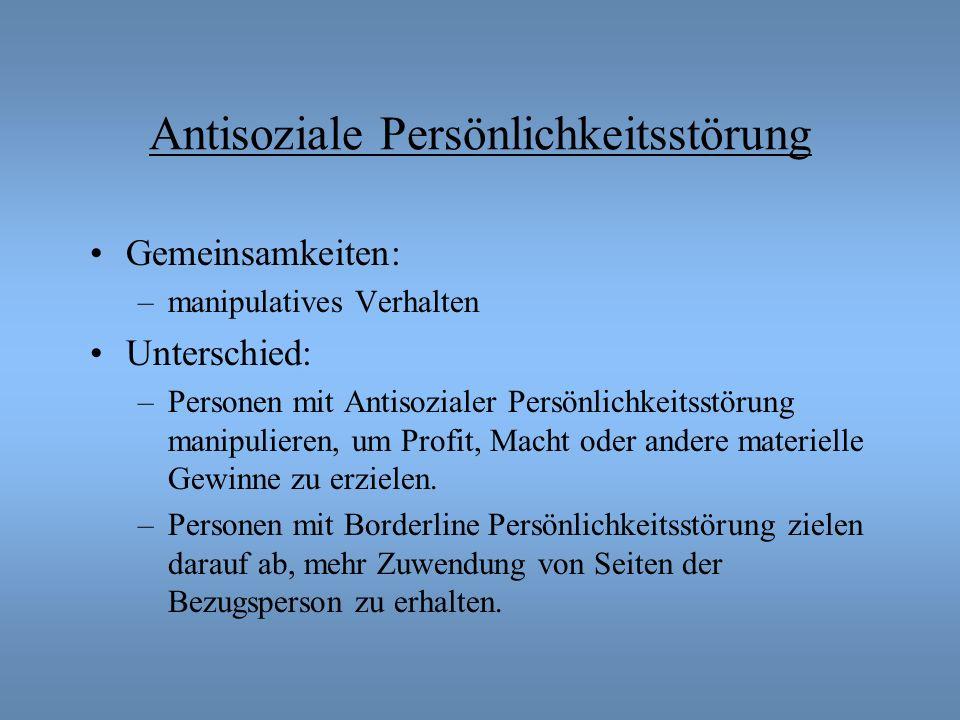Antisoziale Persönlichkeitsstörung
