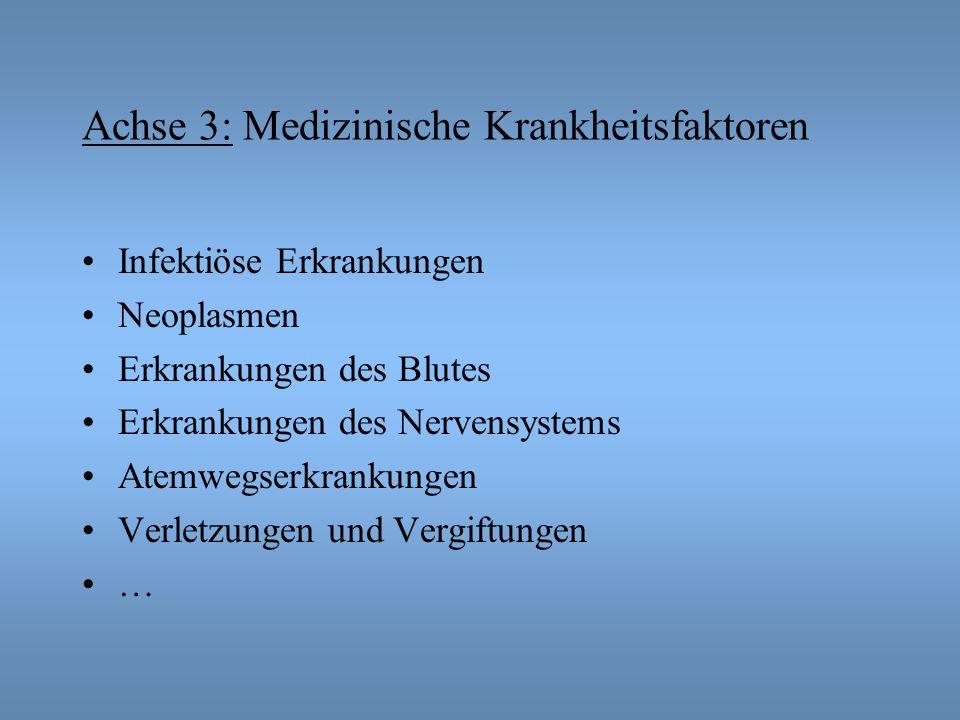 Achse 3: Medizinische Krankheitsfaktoren
