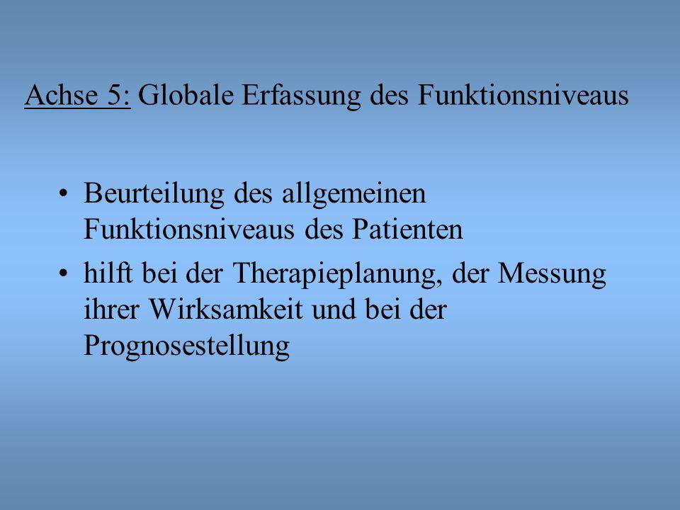 Achse 5: Globale Erfassung des Funktionsniveaus
