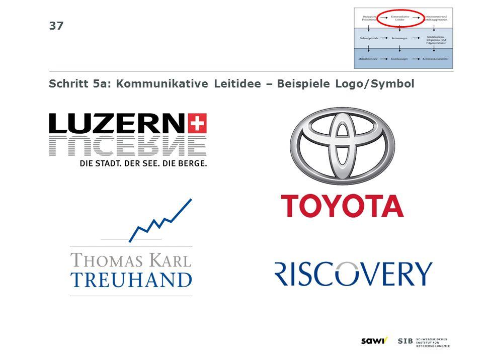Schritt 5a: Kommunikative Leitidee – Beispiele Logo/Symbol