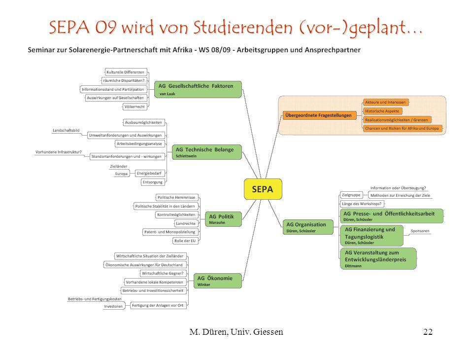 SEPA 09 wird von Studierenden (vor-)geplant…