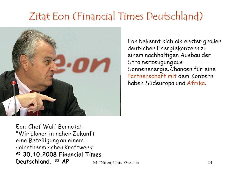 Zitat Eon (Financial Times Deutschland)