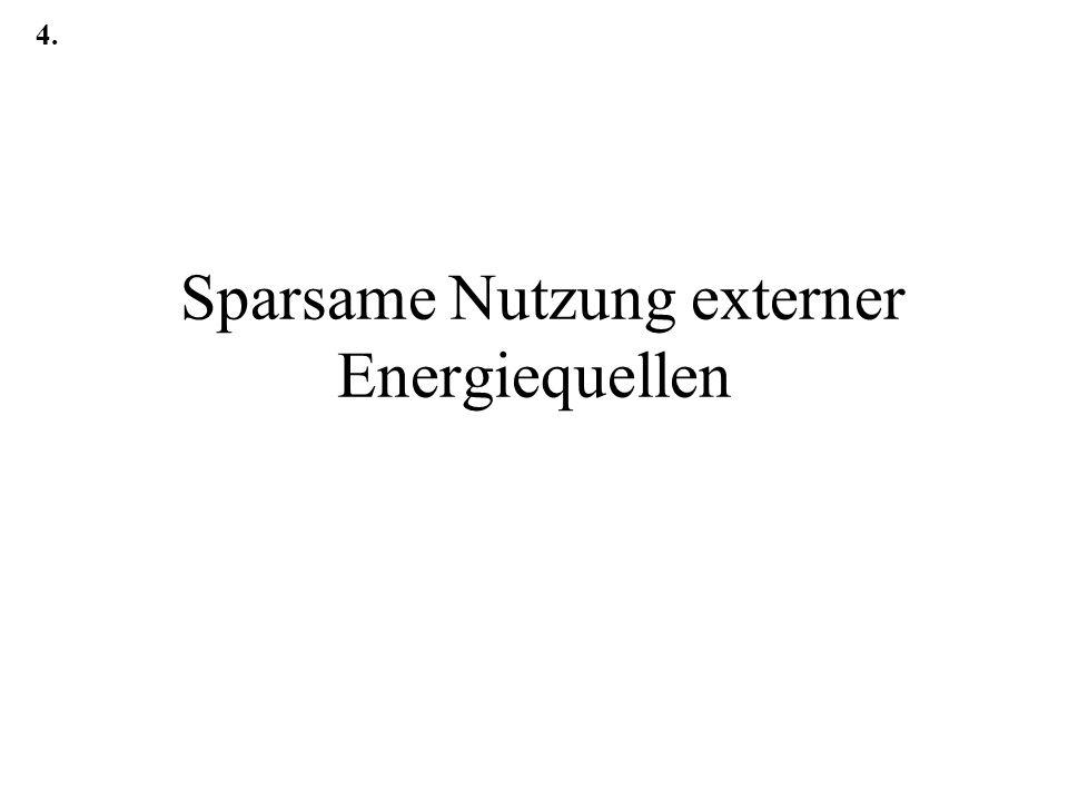 Sparsame Nutzung externer Energiequellen