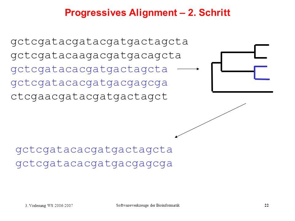 Progressives Alignment – 2. Schritt