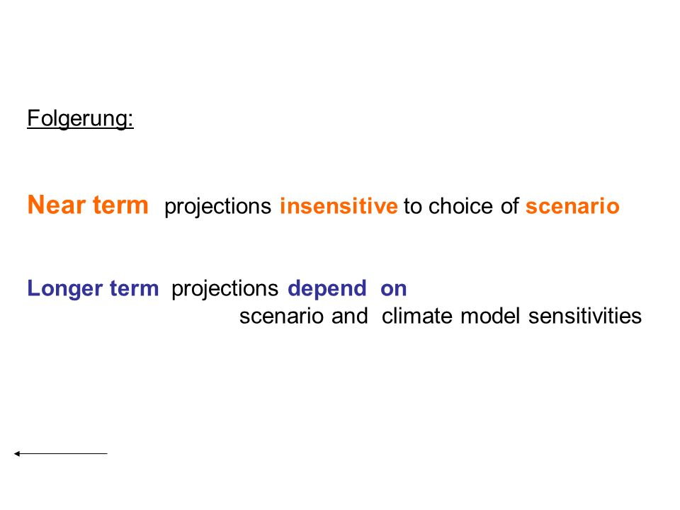 Near term projections insensitive to choice of scenario