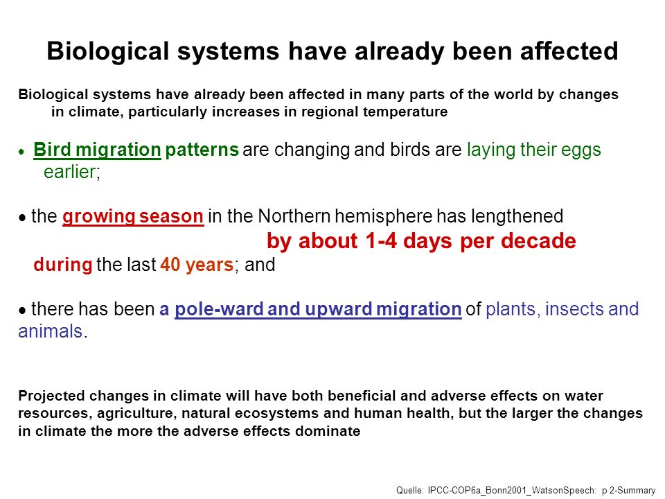 Biological systems have already been affected