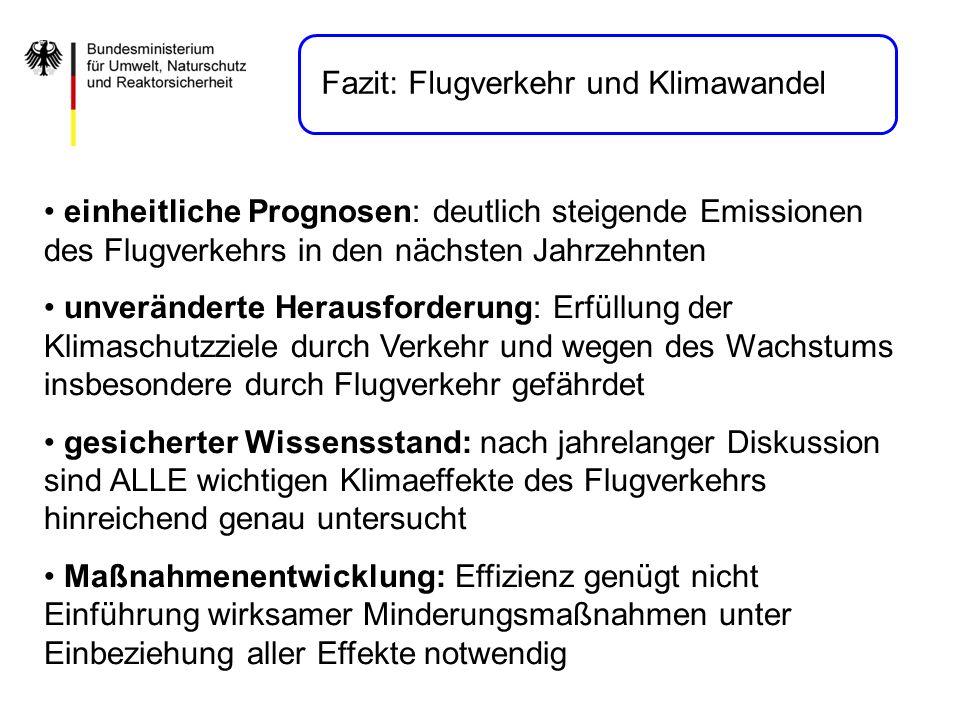 Fazit: Flugverkehr und Klimawandel