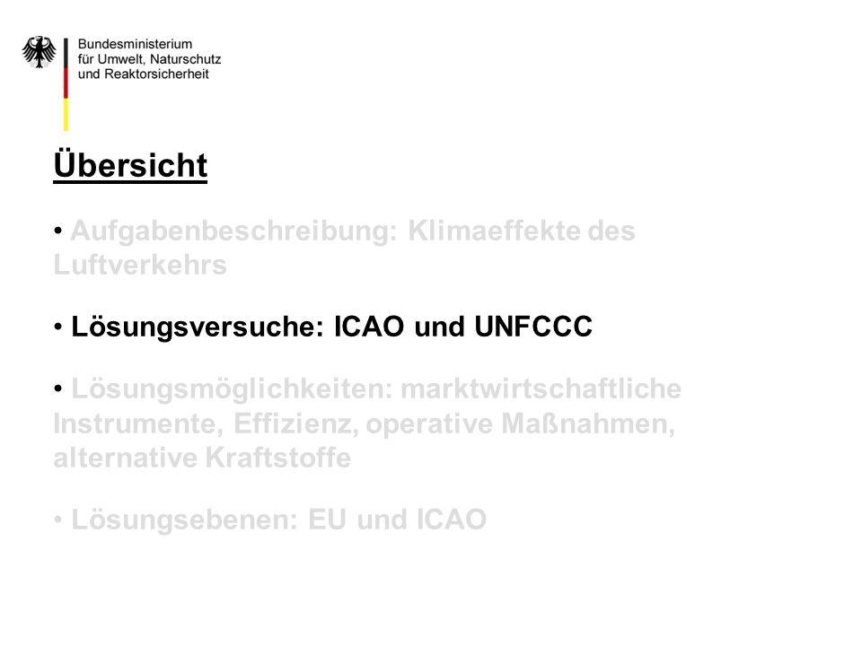 Übersicht Aufgabenbeschreibung: Klimaeffekte des Luftverkehrs