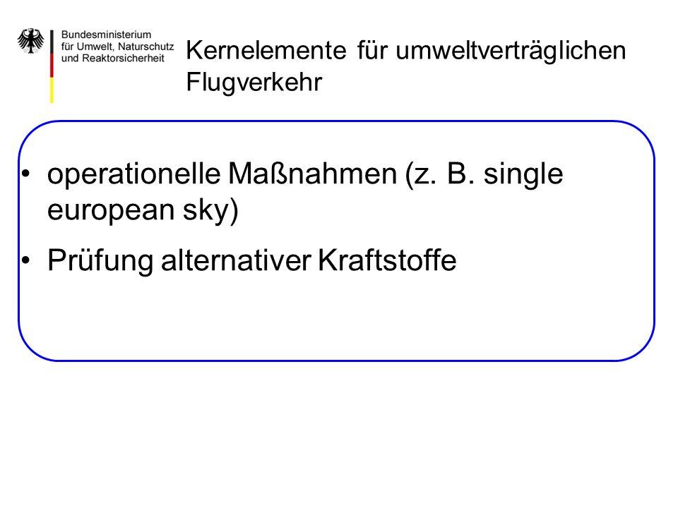 operationelle Maßnahmen (z. B. single european sky)