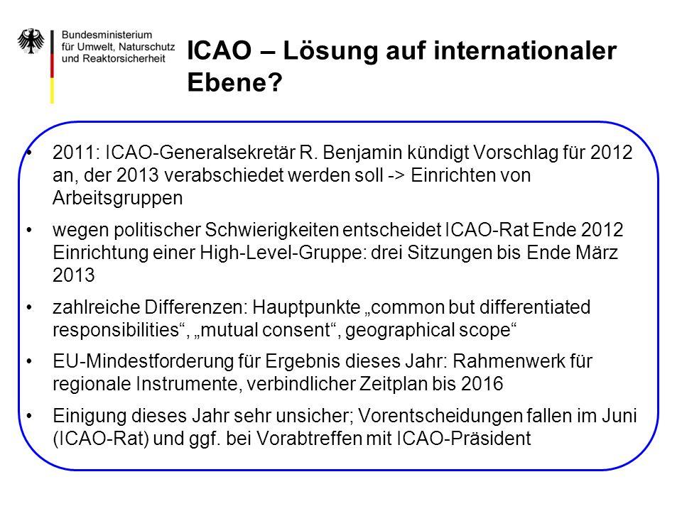 ICAO – Lösung auf internationaler Ebene