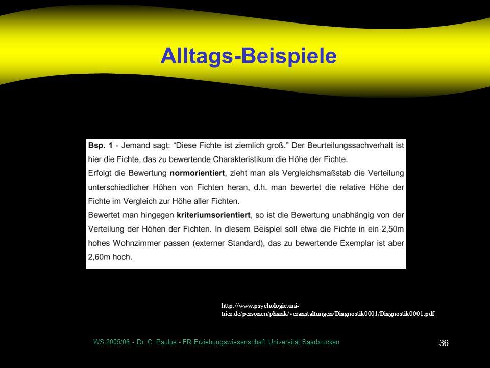 Alltags-Beispiele http://www.psychologie.uni-trier.de/personen/phank/veranstaltungen/Diagnostik0001/Diagnostik0001.pdf.