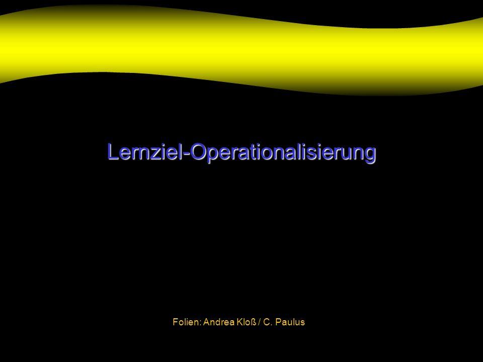 Lernziel-Operationalisierung