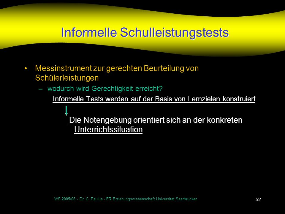 Informelle Schulleistungstests