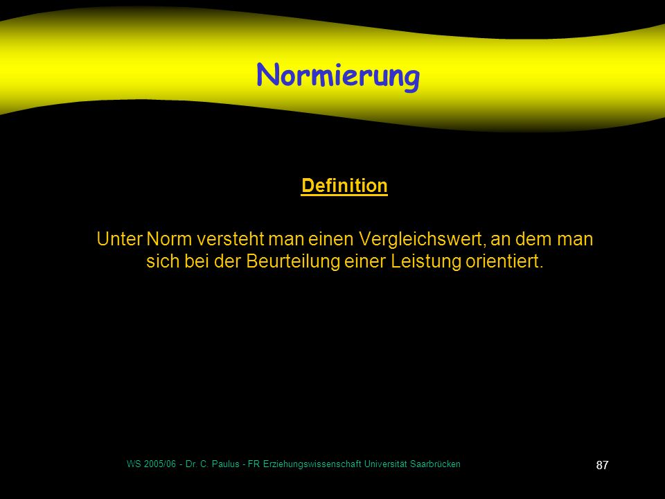 Normierung Definition