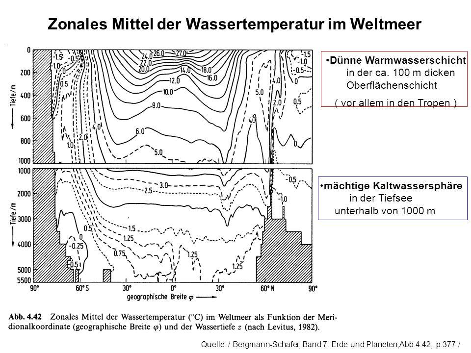 Zonales Mittel der Wassertemperatur im Weltmeer