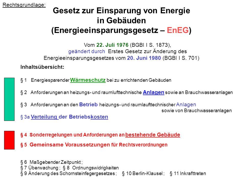 Gesetz zur Einsparung von Energie (Energieeinsparungsgesetz – EnEG)