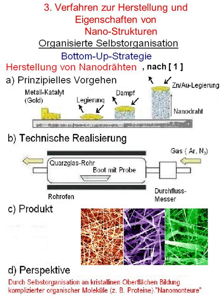 3. Verfahren zur Herstellung und Eigenschaften von Nano-Strukturen