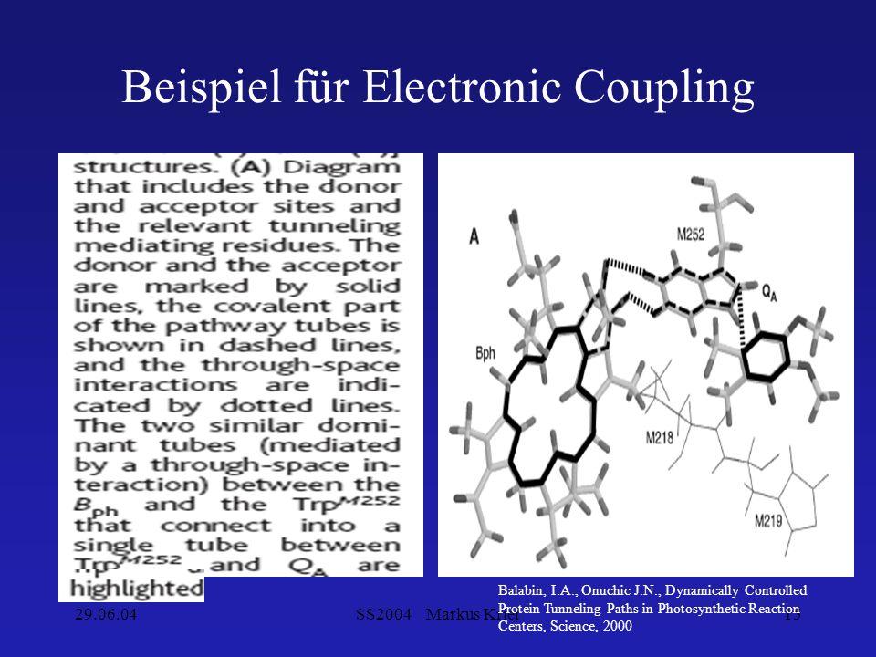Beispiel für Electronic Coupling