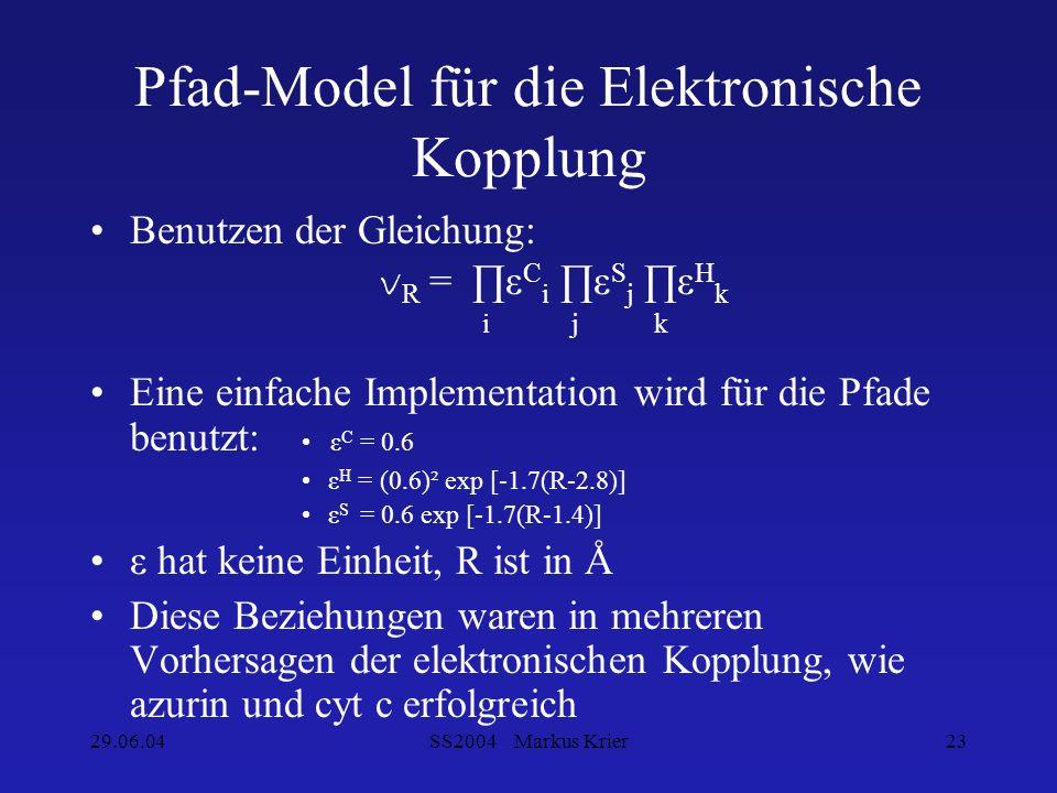 Pfad-Model für die Elektronische Kopplung