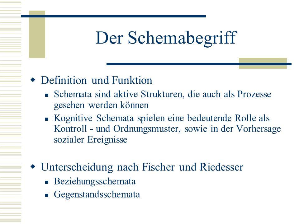 Der Schemabegriff Definition und Funktion