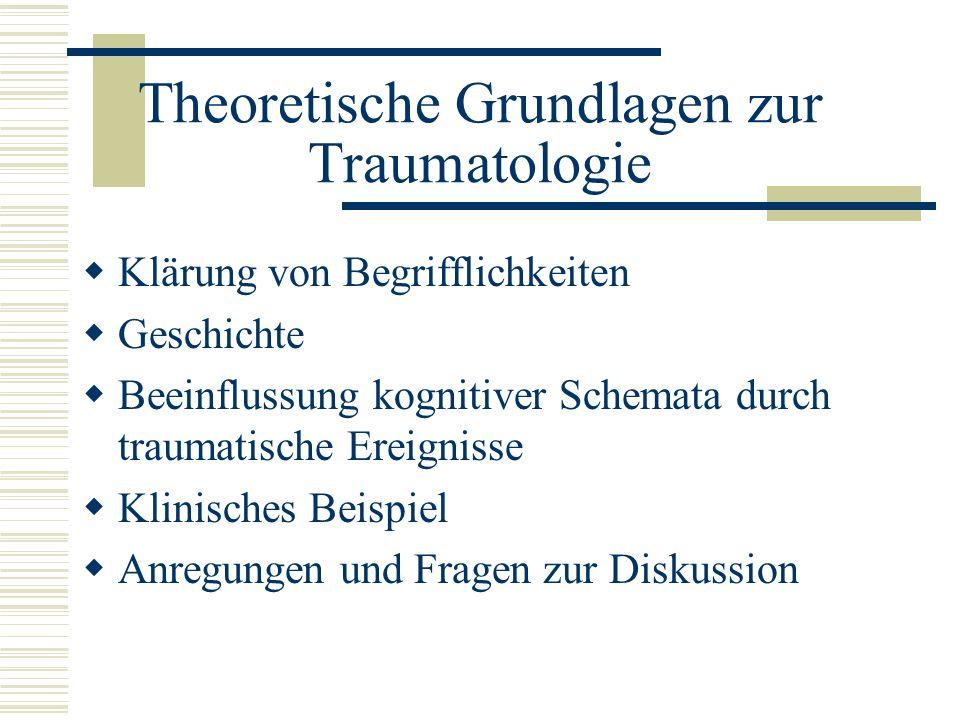 Theoretische Grundlagen zur Traumatologie