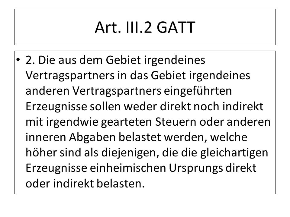 Art. III.2 GATT