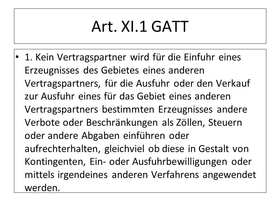 Art. XI.1 GATT