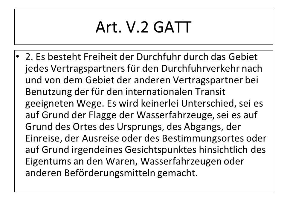 Art. V.2 GATT