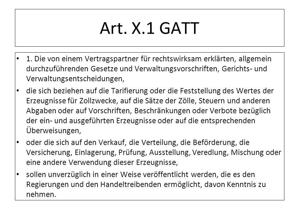 Art. X.1 GATT