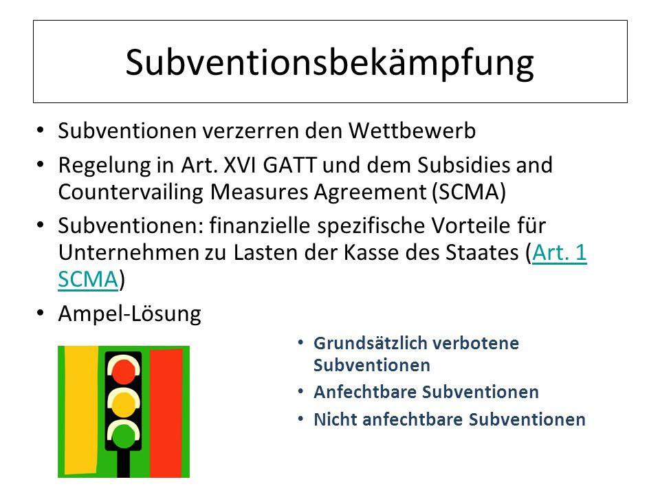 Subventionsbekämpfung