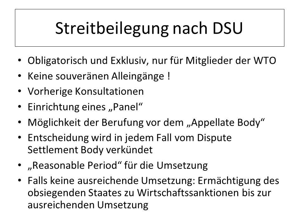 Streitbeilegung nach DSU