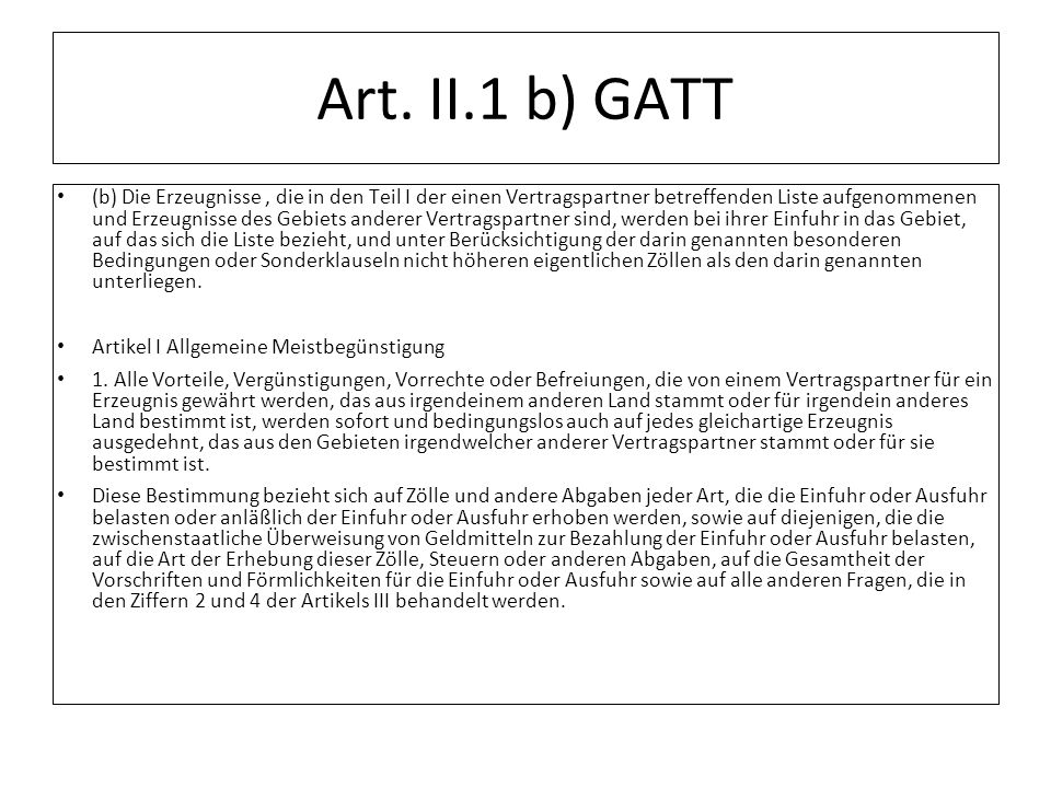 Art. II.1 b) GATT