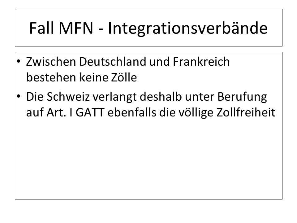 Fall MFN - Integrationsverbände