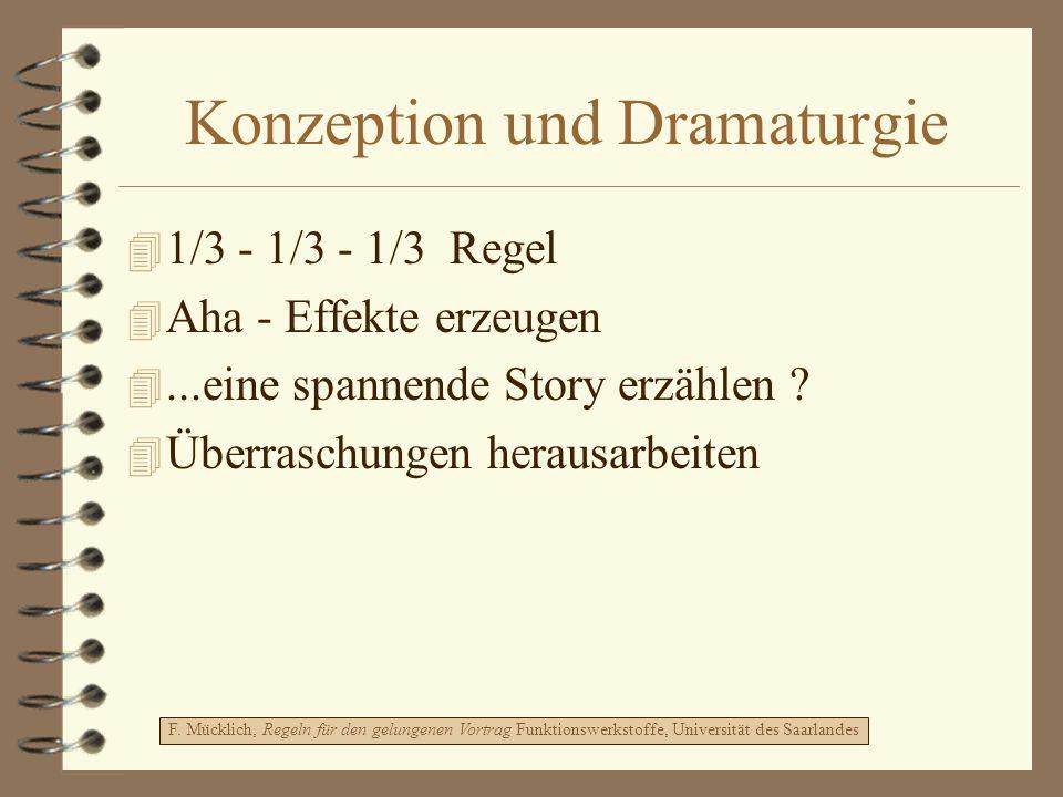 Konzeption und Dramaturgie