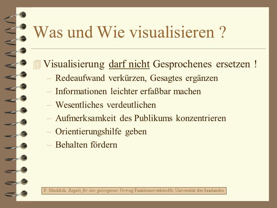 Was und Wie visualisieren