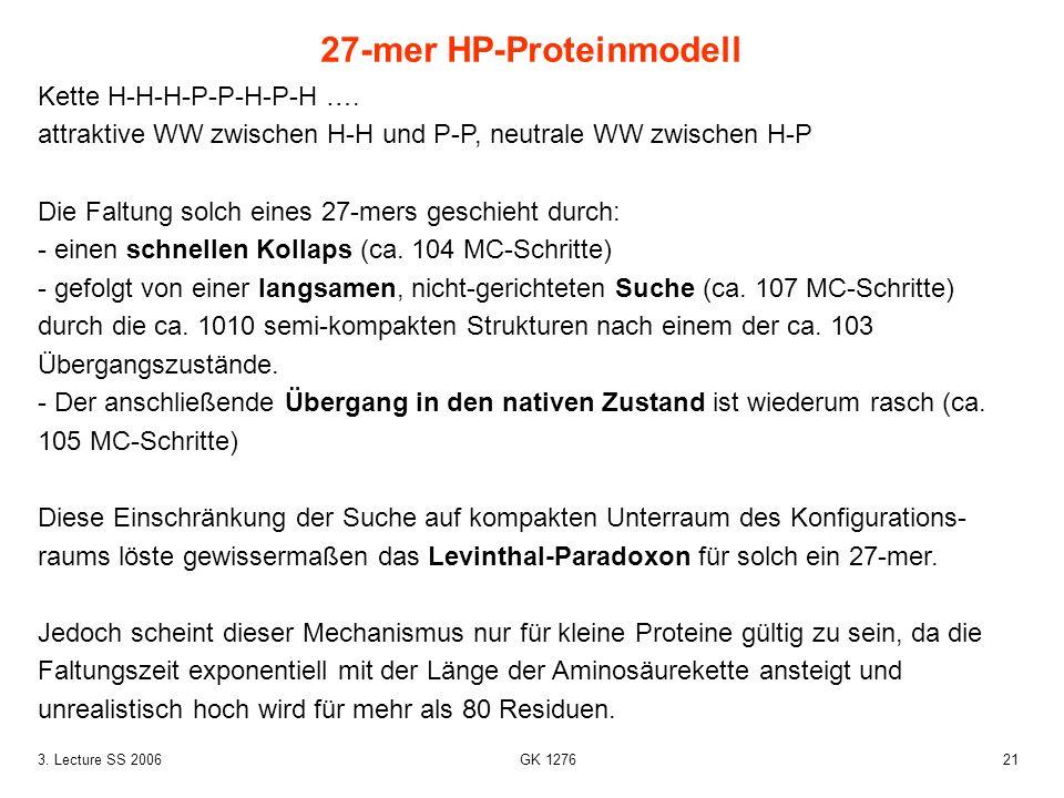 27-mer HP-Proteinmodell
