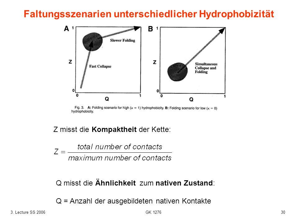 Faltungsszenarien unterschiedlicher Hydrophobizität