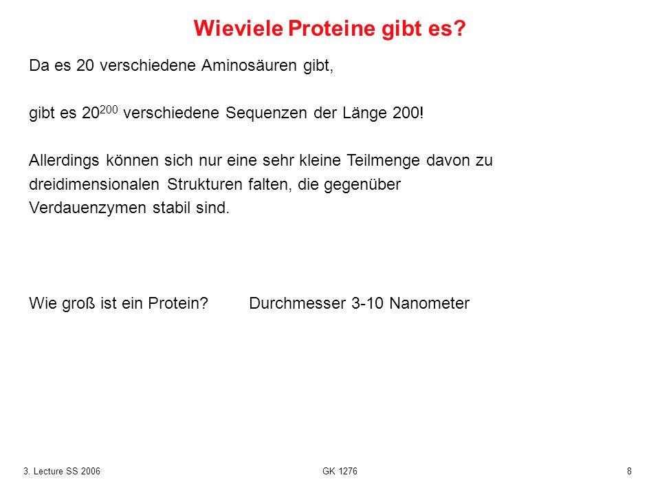 Wieviele Proteine gibt es
