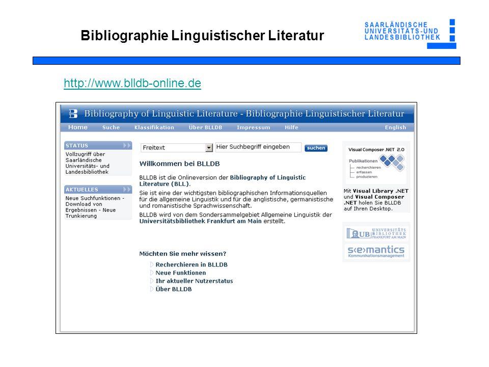Bibliographie Linguistischer Literatur
