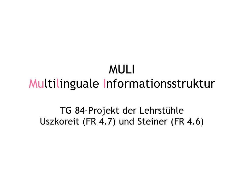 MULI Multilinguale Informationsstruktur