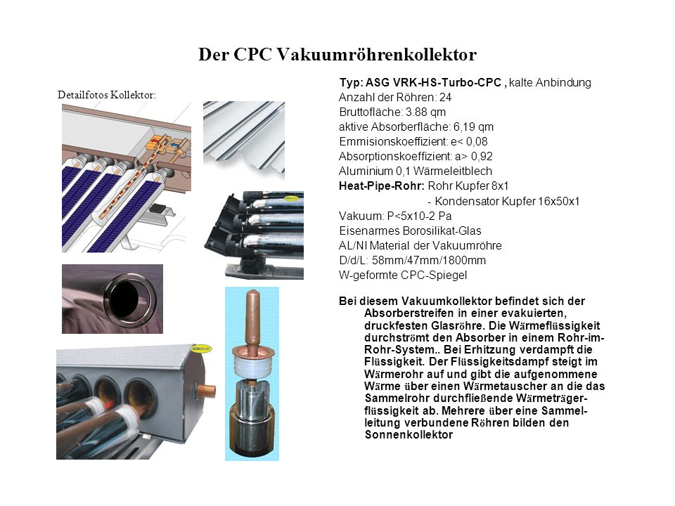 Der CPC Vakuumröhrenkollektor