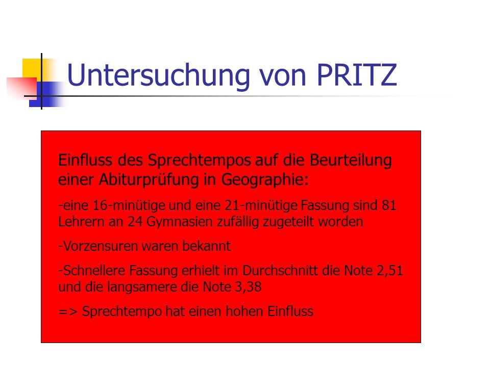 Untersuchung von PRITZ