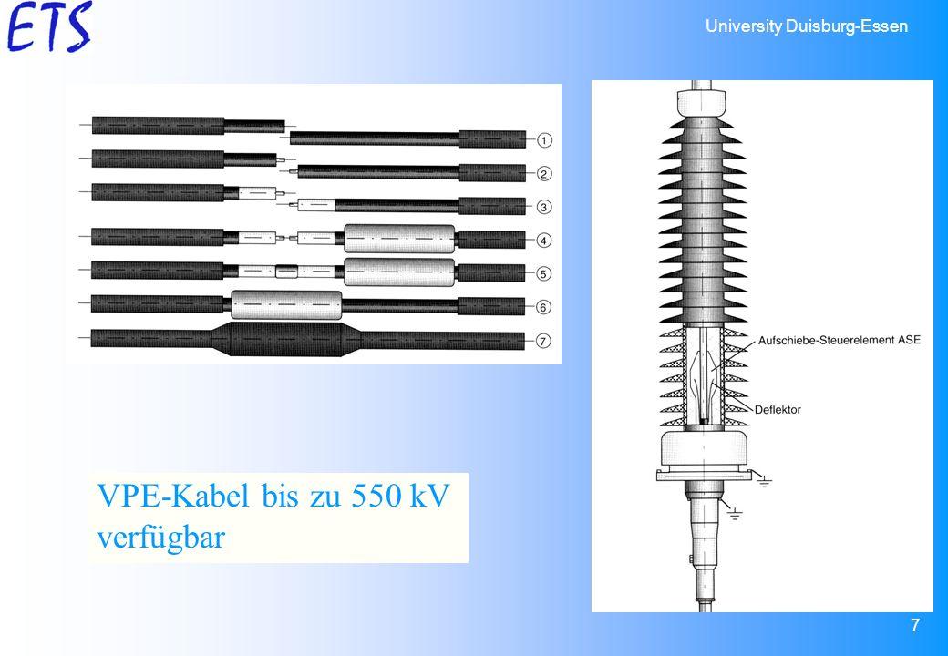 VPE-Kabel bis zu 550 kV verfügbar