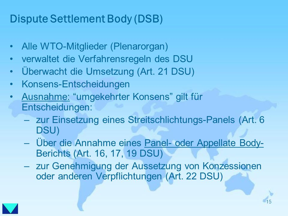 Dispute Settlement Body (DSB)