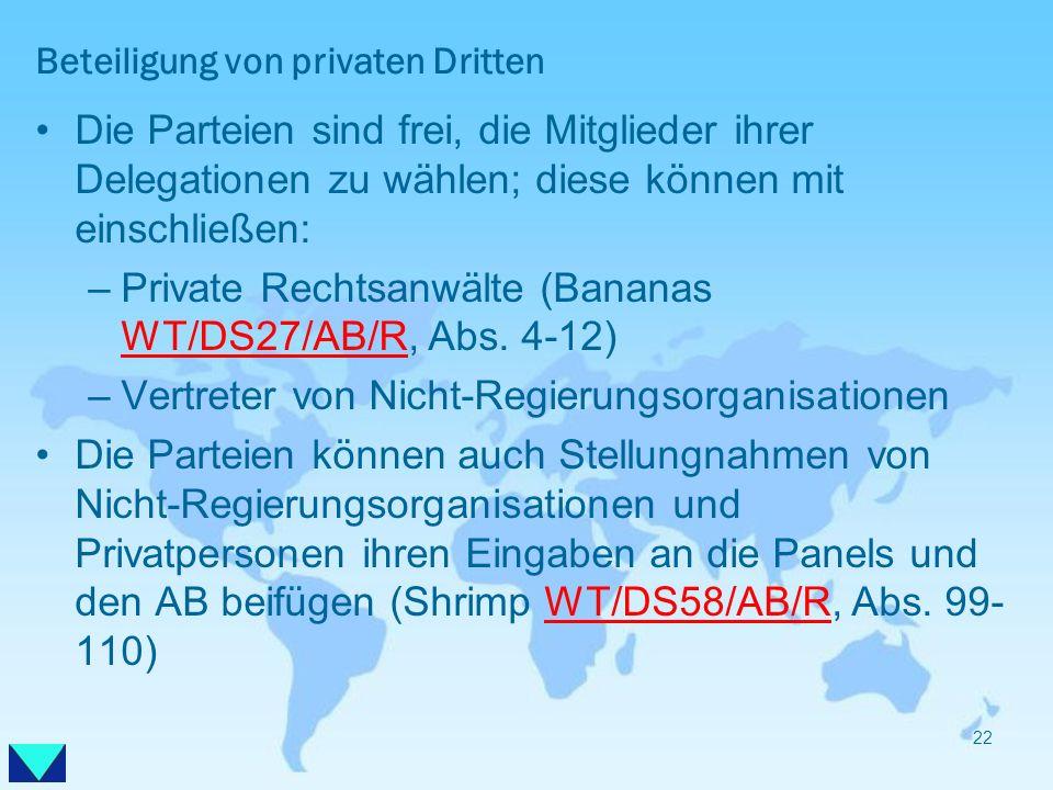 Beteiligung von privaten Dritten