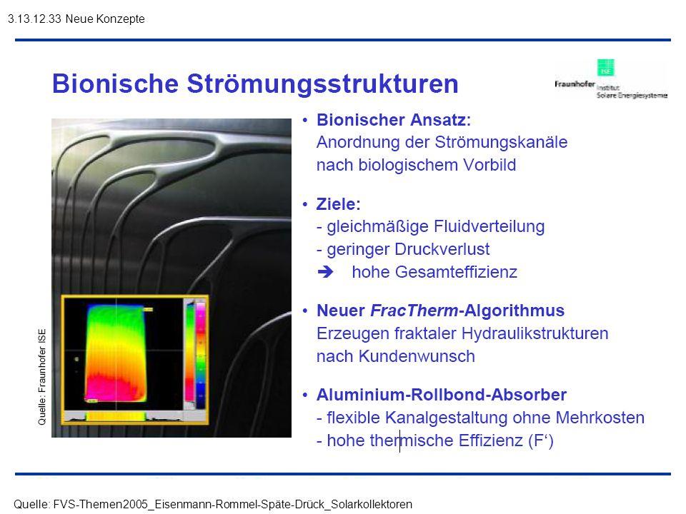 3.13.12.33 Neue Konzepte Quelle: FVS-Themen2005_Eisenmann-Rommel-Späte-Drück_Solarkollektoren