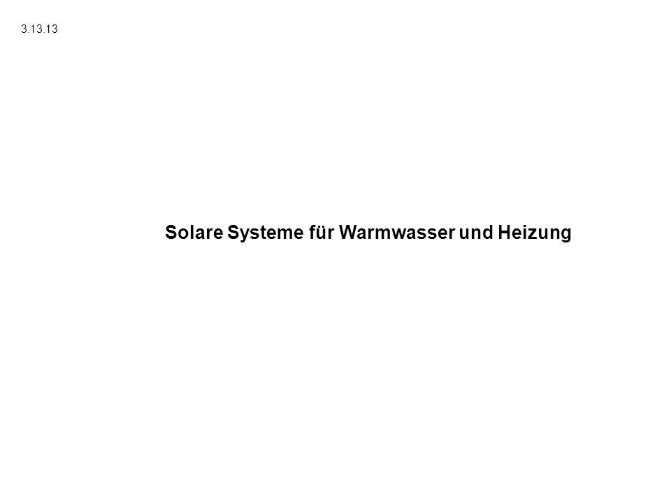 Solare Systeme für Warmwasser und Heizung