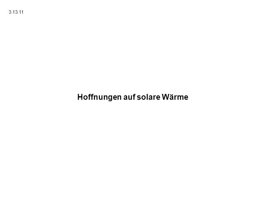 Hoffnungen auf solare Wärme