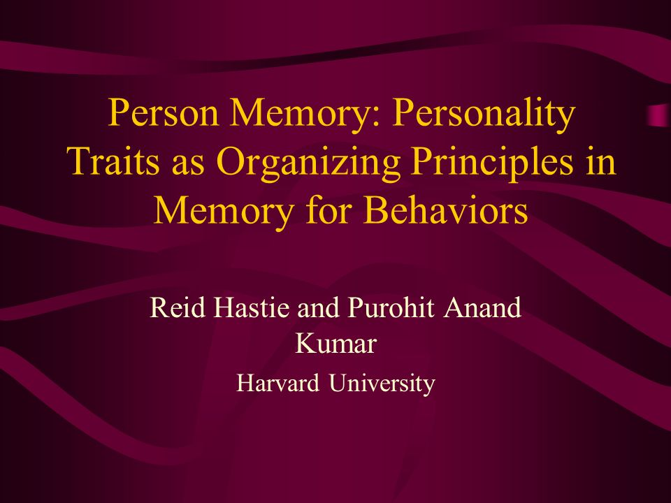 Reid Hastie and Purohit Anand Kumar Harvard University